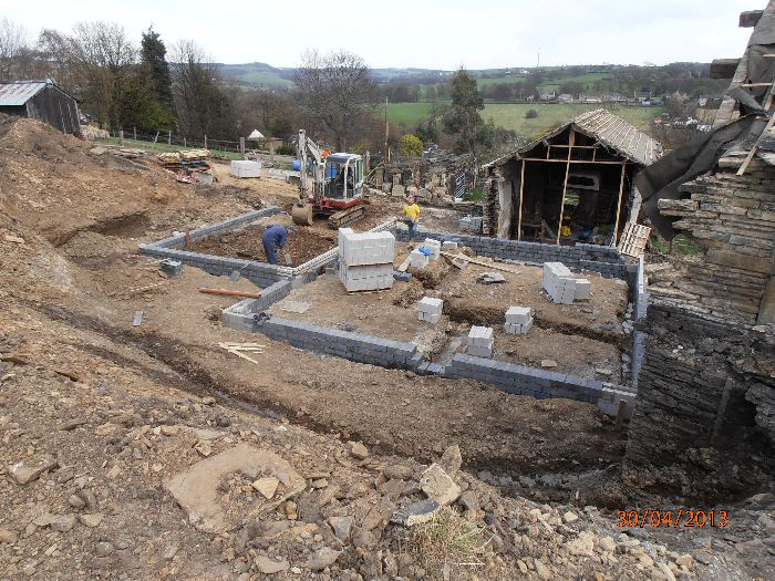 Hill Top Farm footings Kirkheaton Huddersfield